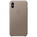 Apple Кожаный чехол для iPhone XS, платиново-серый цвет