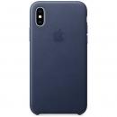Apple Кожаный чехол для iPhone XS, тёмно-синий цвет