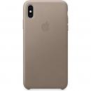 Apple Кожаный чехол для iPhone XS Max, платиново-серый цвет