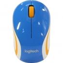 LOGITECH Mini M187 мышь оптическая беспроводная USB, синий [910-002733]