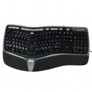 MICROSOFT 4000 Клавиатура , USB, c подставкой для запястий, черный + серебристый B2M-00020