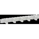 """ITK 19"""" металлический кабельный органайзер 2U, 5 колец, серый"""