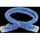 ITK Коммутационный шнур (патч-корд), кат.5Е UTP, 0,5м, синий