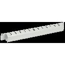 """ITK 19"""" металлический кабельный органайзер с крышкой, 1U, серый"""