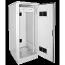 """ITK Шкаф уличный 19"""" 720x860, IP55 двустенный, металл передняя и задняя двери, серый"""