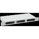ITK 1U Оптический распределительный кросс до 24 портов (без планок, под 8п-3шт)