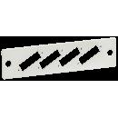 """ITK Панель для 4-ех оптических адаптеров (SC-Duplex в 19"""" кросс)"""