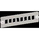 """ITK Панель для 8-ми оптических адаптеров (SC или LC-Duplex в 19"""" кросс)"""
