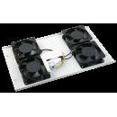 ITK Потолочная вентиляторная панель с термостатом, 4 вентилятора серая