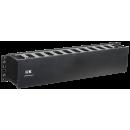 """ITK 19"""" пластиковый кабельный органайзер с крышкой, глубина 60мм, 2U, черный"""