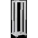 """ITK 19"""" двухрамная стойка, 42U, 600x600, на роликах, серая"""