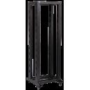 """ITK 19"""" двухрамная стойка, 42U, 600x600, на роликах, черная"""