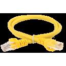 ITK Коммутационный шнур (патч-корд), кат.5Е UTP, 1м, желтый