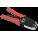ITK Инструмент обжимной для RJ45, RJ12, RJ11 с храповым мех. и вертикальным положением обжима, сине-оранжевый