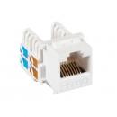 NETLAN EC-UKJ-UD2-WT-10 Модуль-вставка типа Keystone (10 шт)