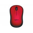 LOGITECH M220 Silent Мышь оптическая беспроводная USB, красный [910-004880]