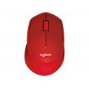 LOGITECH M330 Silent Plus Мышь оптическая беспроводная USB, красный [910-004911]