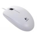 LOGITECH B100 Мышь оптическая проводная USB, белый [910-003360]