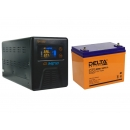 Комплект ИБП Энергия Гарант-500 и Аккумулятор Delta DTM 1275 L