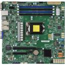 Supermicro X11SCH-F Серверная материнская плата