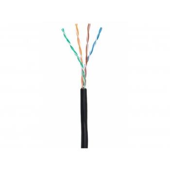 NETLAN UTP, cat 5e, 4 пары, PE -40C, одножильный, черный, 305м- кабель для внешней прокладки