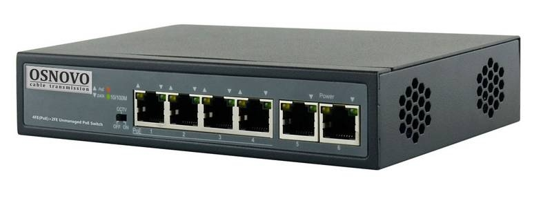 OSNOVO SW-20600/B(60W) PoE коммутатор
