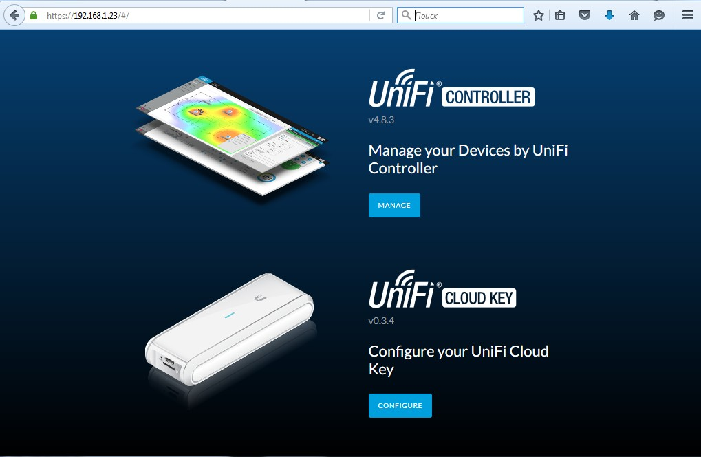 веб-интерфейс Ubiquiti Unifi Cloud Key настройка